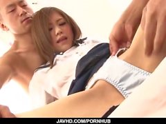 Legendas - Japonês beleza adolescente Rin Saotome bombeado duro