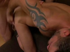 Hairy gay double penetration and creampie