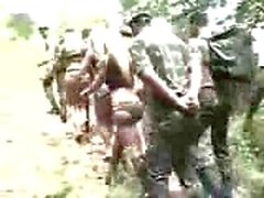 Fucking Army For A Busty Shemale