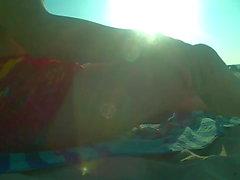 Lenda Black on the beach