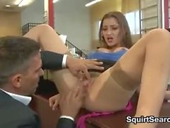 Secretary Having Sex At The Office