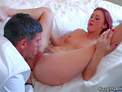 Lovely redhead Karlie Montana gets royally fucked