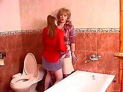 Mektup içinde tuvalet Olgun yalama pussy