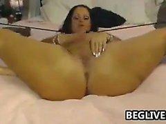 Big tit ass brunette Emily Addison masturbates