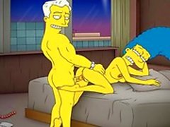 De bande de Simpsons pornos en Porn maman Marge avoir