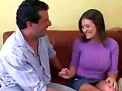 Marido Reloj esposa tienen orgasmo con perno prisionero de