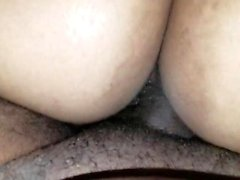 Big ass ebenholts slampa rider tjock svart kuk