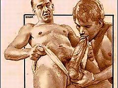 Tappning som är manlig Erotica