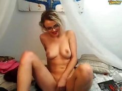 Blonde Scharlachrote Solo-Webcam