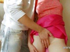 Грудастая белорусский подростковый имеющие попа dildoed