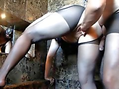 Aficionados grande do Mature de bichano Kinky com punho