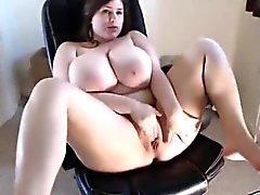 Webcam Mädchen hat erstaunliche Titten