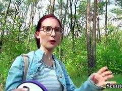 Deutsch Scout - Hochschule Redhead Teen Lia in öffentlichem Casting