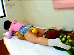 Webcam menina Amadores Masturbação Pillow Humping