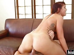 Mischa Brooks gets impaled on the couch