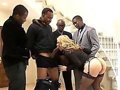 Big boobs blondie ho Sarah Vandella dped by big black boners