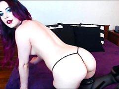 Milf Jude Spielzeug Pussy und Arsch auf Webcam