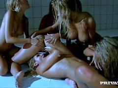 A Lesbian Orgy with Eve Angel Zafira Clara G and More