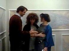 Барбара Дерзайте Рони Диксона Майка Хорнером во потаскухи семидесятых порнографии трахали вместе с мясистое петух
