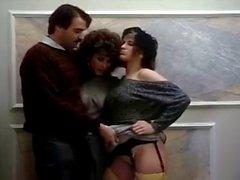 Barbara Dare Ronnie Dickson Mike Horner in Schlampen Porno siebziger gefickt mit fleischig Hahn