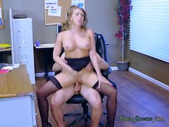 Hot Secretary Kagney Linn Karter Gets Dicking From Boss