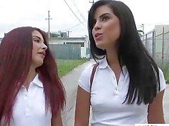 Jugendliche Vanessa Phoenix sowie Liliths Shayton Sprung Gruppe for sex