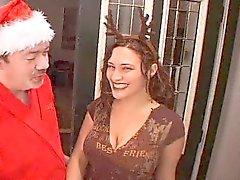 Грязная Санта Fucks своих оленей Девочка