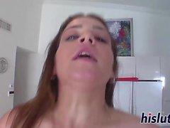 Natasha Nice rides on a large cock