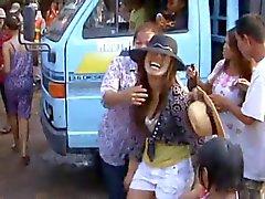 Meninas Tailândia aldeia sizzling dança em público -Part -2