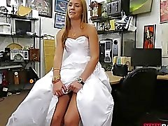 Babe sells her wedding dress and screwed