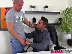 Bisexual studs spitroast