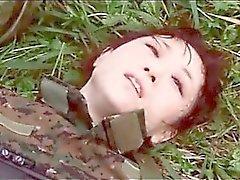 Fighe giapponese nel esercito si affamato di sesso nel una missione