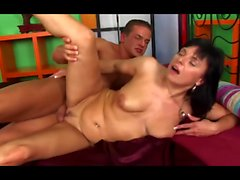 Brunette Milf Fucked By Young Guy