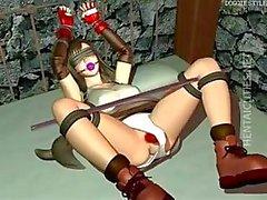 Hottie Hentai 3D Sklave wird hart nagelte