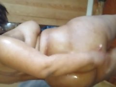 asian Bbw amateur-oiled-