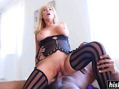 Tasha Reign gets a big black cock