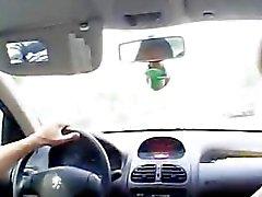 Arap civciv Mektup araba kullanırken öğrendiği