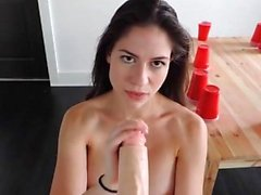 Teen with big boobs fucking a dildo on webcam