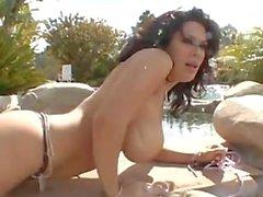 3some 2 big tit Latina MILFs