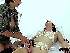 Unfaithful british milf lady sonia exposes her oversized boo