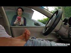 Dickin salamaa ja girl rannekellot me jack käytöstä autossani - Pornspot