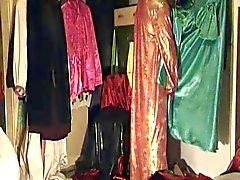 Франци IM Samtmantel унд orientalischen Kleid