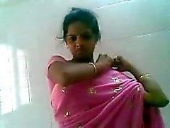 Telugu пинк Сари