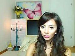 amatörmothandrust fingrar sig på levande webbkamera
