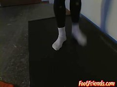 Ballet dance and feet showing with hot gay dude Phillip