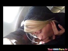 Blowjob On An Airplane