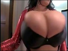 Leanne Crow huge natural tits red devil