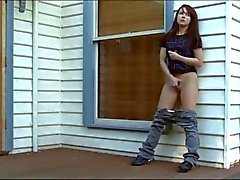 Delta Masturbating Outside by the House WF