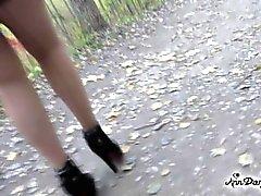 Caminar en un lugar público