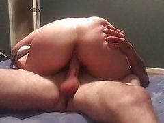 Wife rides my hung friend